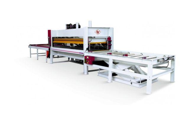 Прес гарячий для склеювання щита WINTER SOLID 3013-100 T – PLC Automatic